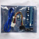 Purper Stootbord pci-e Uitdrukkelijk USB met 4pin Kabel van de Macht 006