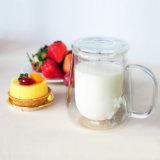 Tazza doppia del latte della tazza di tè del latte di vetro di latte di resistenza termica