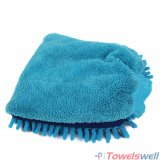 Многофункциональная перчатка мытья синеля Microfiber
