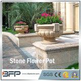 Abgezogener natürlicher Steinblumen-Potenziometer/Vase für Garten-Dekoration/Landschaftsprojekt