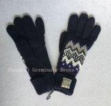 編まれたラベル(JYB379)が付いている方法ジャカード編む手袋