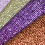 Metallisches Silk nachgemachtes Funkeln PU-Leder für Beutel-Schuh