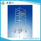 Material de aluminio andamios para la venta de madera contrachapada con plataforma de trabajo