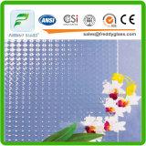 vidro desobstruído de vidro decorativo da arte de 2.5mm-12mm com teste padrão de Wanji