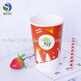 Tazas de café dobles disponibles impresas insignia del papel de empapelar del cliente
