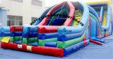 キャリッジ跳躍のスライドのための膨脹可能な障害物コース