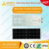 Projectos governamentais 80W tudo-em-um LED integrado Rua Solar Luz para iluminação do jardim da lâmpada exterior