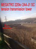 Megatro 220kv 2A4-J1 Scの張力伝達タワー