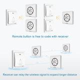El restaurante sin hilos impermeable portable a prueba de mal tiempo embroma el interruptor grande del botón del timbre del timbre del dormitorio de interior