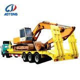 판매를 위한 반 Aotong 굴착기 수송 3 차축 Lowbed 트레일러