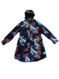 Buntes Reflective Hooded PVC Raincoat für Woman