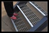 Piscina gradeamento de aço galvanizado bitolas da Escada
