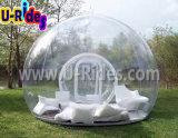 1.00mm transparentes Belüftung-kampierendes aufblasbares freies Zelt für das Familien-Kampieren