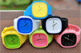 Qualitäts-auswechselbare Japan-Quarz-Bewegungs-Silikon-Gelee-Uhr
