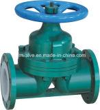 PFA Gevoerde ANSI van de Klep van het Diafragma van het Type van Waterkering