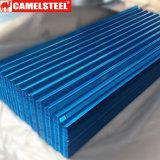 Tuile de feuilles de tôle ondulée en acier recouvert de zinc pour matériaux de construction