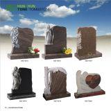 オリーブ色の花こう岩のヨーロッパ式の記念の墓碑