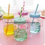 ふたが付いている熱い販売法新しいデザインガラス瓶、石大工のコップ、メーソンジャーおよびハンドル