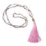 Hot Sale Bohemian Mode bijoux bordée de tête de Bouddha Collier pendentif cristal