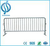 Barragem de controle de multidão de metal Barricadas portáteis Barreiras para pedestres