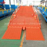 10Т для мобильных ПК стальные гидравлические емкость склада погрузочную аппарель для продажи