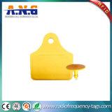 Tag RFID imperméable à l'eau de fréquence ultra-haute d'animal de numéro d'impression de ferme à la maison