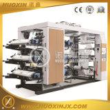 Máquina de impressão Flexographic da película plástica da pilha de 6 cores
