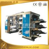 6 Farben-Stapel-Plastikfilm-flexographische Drucken-Maschine