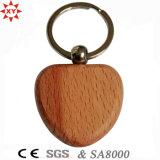 Regali Keychain di legno in bianco Heart-Shaped di promozione