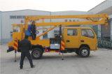 6-16m 중국 최신 판매 저가 트럭은 세륨 ISO 증명서를 가진 유압 공중 일 선적 상승 플래트홈을 거치했다