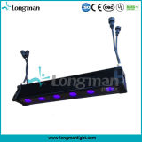 실내 DMX 무선 건전지 Rgbaw+UV LED 가벼운 벽 세탁기 점화