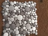 China borstelde het Mozaïek van de Tegels van Backsplash van de Tegels van het Aluminium van het Metaal