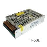60W 5V 12V 24V Schaltungs-Stromversorgung Gleichstrom-LED dreifache