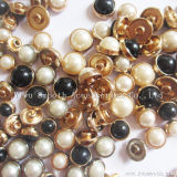 Halbrund-Legierungs-befestigt festes Perlen-Nagel-Schuh-Kleid dekorative Zubehör
