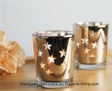 Heet verkoop de Decoratie van het Huis van de Gift van het Festival van de Houder van de Kaars van het Glas van de Kandelaar