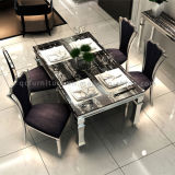 Sala de jantar Modern Marble Top Metal Legs Popular Table and Chair