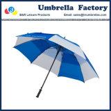 Automobile bianca blu del tessuto di seta naturale dell'ombrello della tempesta della fibra da 62 pollici aperta
