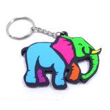 Comercio al por mayor de PVC blando elefante lindo LLAVERO DE GOMA