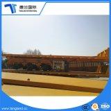 Fabrik-Preis 50 Tonnen-Nutzlast 40FT oder 20FT 3 Wellen-LKW-Flachbettspeicherauszug-Behälter-halb Schlussteil