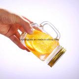 500 ml de suco de quadrados Glass Mason Jar com palha