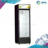 Porta única porta de vidro vertical Vertical Comercial Refrigerador de Bebidas