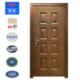 Galvanisierte hölzerne Korn-Furnier-Blattton-Beweis-Eingangs-Sicherheits-Stahltür mit Qualität SD-Va-001