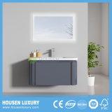 2018 LED quente PVC Pintura de alto brilho Arc armário de banheiro HS-P1105-800