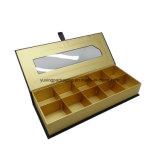 Het Vakje van de Chocolade van de Douane van het Document van de Gift van het huwelijk met Duidelijk Deksel