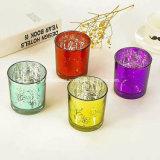 Bougie de peinture OEM tasses en verre Bougeoir bocal en verre