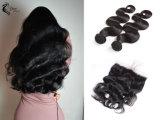 9Uma onda de Corpo Peruano 100% virgem trama de cabelo preto natural por grosso