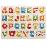 Montessori madeira bebê as cores de brinquedos educativos alfabeto números de quebra-cabeças de transporte de animais