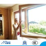 Finestra di girata di inclinazione di legno & dell'alluminio con vetro d'isolamento
