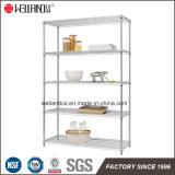 Basic 5 étagère Accessoires en acier chromé Heavy Duty NSF sur le fil de stockage en rack des étagères de cuisine