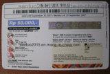 Equipo pagado por adelantado de la impresión y del etiquetado de la tarjeta
